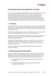Garantiebedingungen - Canon Deutschland