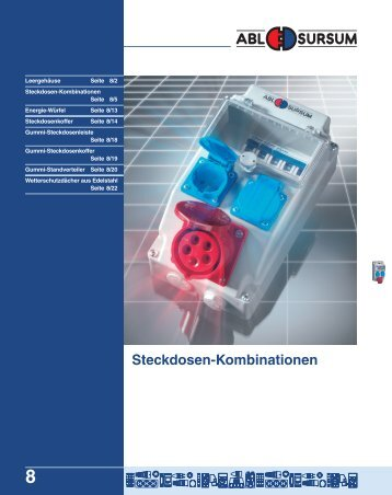 ABL Steckdosen-Kombinationen - Elektro logistika