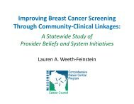 Improving Breast Cancer Screening Through Community-Clinical ...