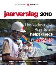 Jaarverslag Rode Kruis 2010