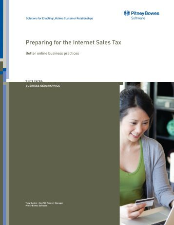 White Paper: Preparing for the Internet Sales Tax - Pitney Bowes