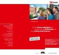 Zu den Kloster-Highlights der Region mit der Kulturbahn und dem ...