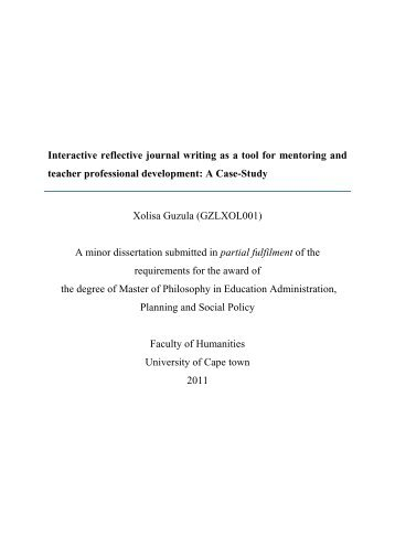 Interactive and Reflective journal writing as a tool for ... - praesa
