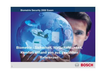 Biometrie - Sicherheit, Wirtschaftlichkeit, Komfort anhand von aus ...