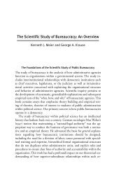 The Scientific Study of Bureaucracy: An Overview