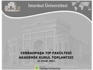 Fakültemizde 21 Eylül 2011 tarihinde yapılan Akademik Kurul ...