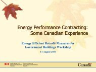 ESPC Energy Performance Contracting: Some Canadian Experience