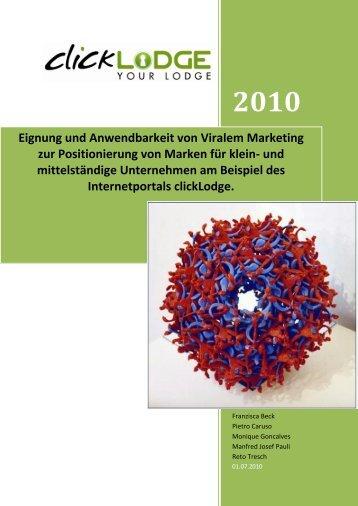 Eignung und Anwendbarkeit von Viralem ... - Werbeagentur 4c Media