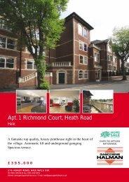 Apt. 1 Richmond Court, Heath Road