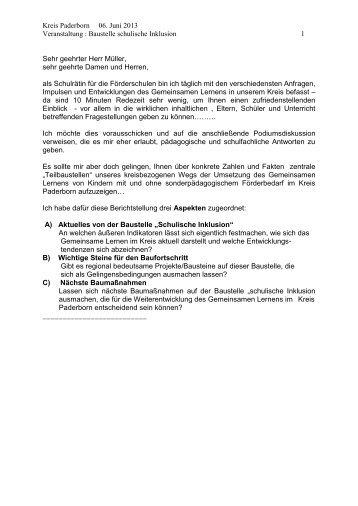 """""""Inklusion vor Ort""""-Stand des Gemeinsamen ... - Kreis Paderborn"""