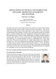 application of neural networks for dynamic modeling of robotic ...
