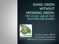 Low- and no-cost solutions for going green - The School District of ...