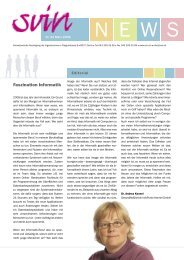 Faszination Informatik - ETH - Frauenförderung Informatik - ETH Zürich