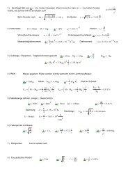 Übungsblatt Mechanik Lösungen