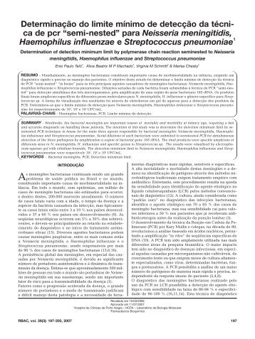 """""""semi-nested"""" para Neisseria meningitidis, Haemophilus i"""