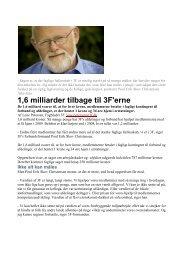 1,6 milliarder tilbage til 3F'erne - Pakkeriklubben