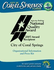 City of Coral Springs, Florida