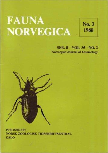 SER. B VOL. 35 NO. 2 - Norsk entomologisk forening