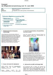 Protokoll der Mitgliederversammlung vom 14. Juni 2004 - Swiss NLP