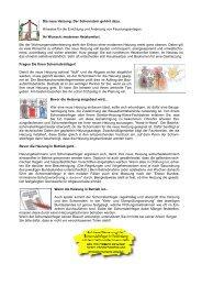 Die neue Heizung: Der Schornstein gehört dazu. Hinweise für die ...