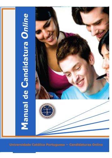 Manual de Candidatura Online - Universidade Católica Portuguesa