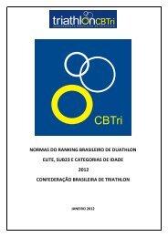 NORMAS DO RANKING BRASILEIRO DE DUATHLON ... - CBTri
