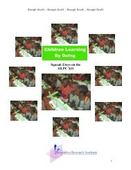 Children Learning By Doing - OLPC - One Laptop per Child