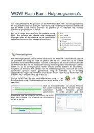WOW! Flash Box – Hulp OW! Flash Box – Hulpprogramma's ...
