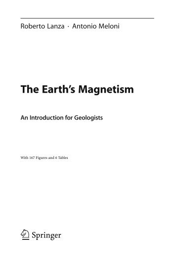 An Introduction for Geologists The Earth's Magnetism - Index of