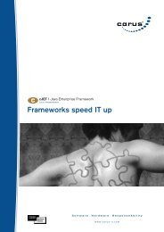 Frameworks speed IT up - carus AG