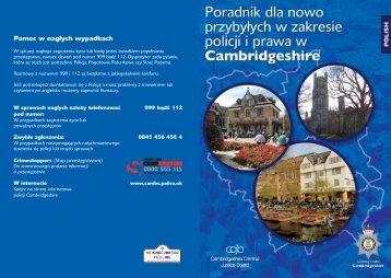 Cambridge Newcomers Polish - Cambridgeshire Constabulary