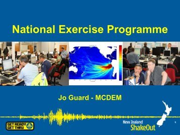 National Exercise Programme - Ministry of Civil Defence and ...
