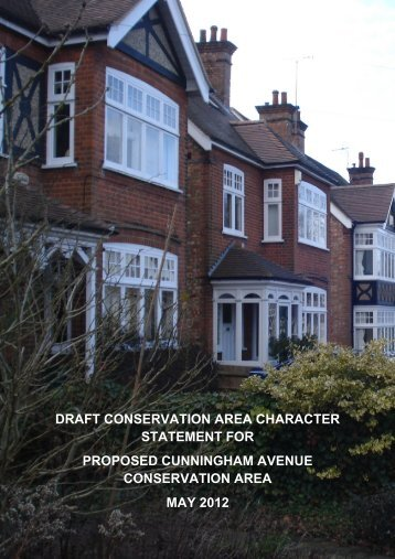 draft conservation area character statement for proposed ...