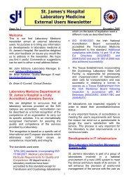 External User Newsletter Issue 1 (PDF 132Kb) - St. James's Hospital