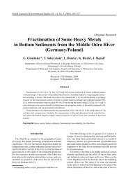 Fractionation of Some Heavy Metals in Bottom Sediments from the ...