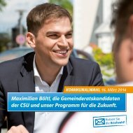 Maximimilan Böltl, die Gemeinderatskandskandidaten der CSU unser Programm für die Zukunft.