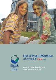 Umwelterklärung 2004 - Stadtwerke Unna