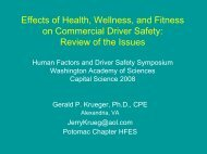 Effects Of Health, Wellness, And Fitness On Commercial Driver