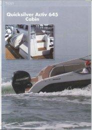 Essai bateau Activ 645 Cabin - Magazine: Nautica - Quicksilver Boats