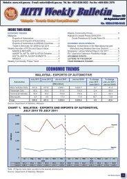 Miti Weekly Bulletin Volume 144 31 May 2011 Ministry Of