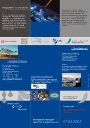 Simulation technischer Prozesse - UniTransfer - Universität Bremen