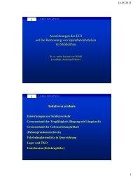 Auswirkungen des EC2 auf die Bemessung von ... - VSVI