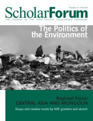 The Politics of the Environment - Open Society Institute ...