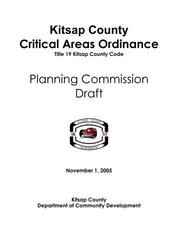 Planning Commission Draft, November 1, 2005 - Kitsap County ...