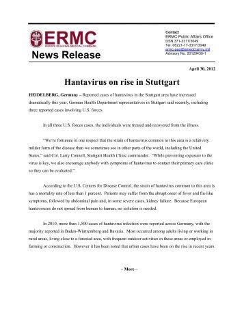 Hantavirus on rise in Stuttgart - ERMC