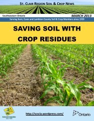 March 13 - Ontario Soil and Crop Improvement Association