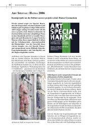 ART SPECIAL: HANSA 2006 Kunstprojekt an der Kölner unesco-projekt ...