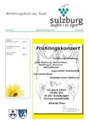 Nummer 15 Mittwoch, den 10. April 2013 Jahrgang 35 - Gemeinde ...