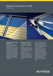Schüco Premium-Kollektoren SchücoSol U.5 DG - Gerenda Solar