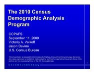 The 2010 Census Demographic Analysis Program